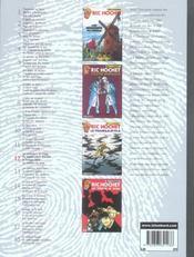 Ric Hochet ; INTEGRALE VOL.12 - 4ème de couverture - Format classique