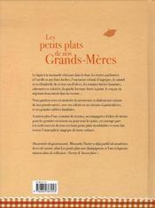 Les petits plats de nos grand-mères - 4ème de couverture - Format classique