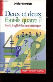 Deux + Deux Font-Ils 4 ? - Couverture - Format classique