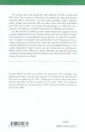 Les villes d'Italie du XII au milieu du XIV siècle - 4ème de couverture - Format classique