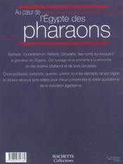Au Coeur De L'Egypte Des Pharaons - 4ème de couverture - Format classique