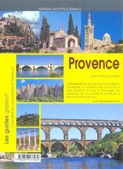 Provence - 4ème de couverture - Format classique