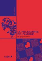 La philosophie de l'amour en 365 citations - Couverture - Format classique