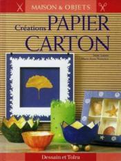 Creation Papier Carton - Couverture - Format classique