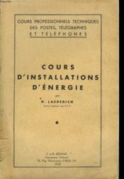 Cours D'Installations D'Energie - Couverture - Format classique