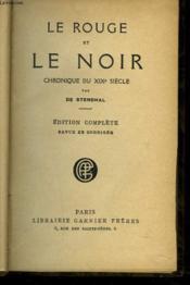 LE ROUGE ET LE NOIR. CHRONIQUE DU XXe SIECLE. - Couverture - Format classique