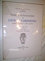 Poèmes autographes de Louis Le Cardonnel - Florence- Ravenne - Assise - Valence. - Couverture - Format classique