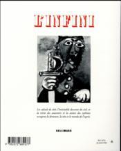 Revue L'Infini N.136 - 4ème de couverture - Format classique
