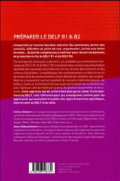 Préparer le DELF B1 & B2 - 4ème de couverture - Format classique