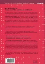 Cadre européen ; b1 élève ; cd audio ; livret de corrigés - 4ème de couverture - Format classique