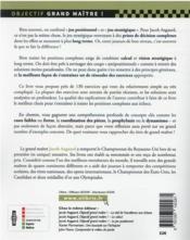 Le jeu stratégique aux échecs - 4ème de couverture - Format classique