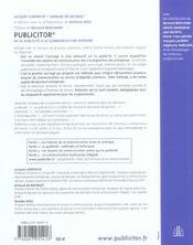Publicitor - 4ème de couverture - Format classique
