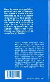 Aspects De La Civilisation Africaine - 4ème de couverture - Format classique