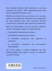 1001 Expressions Pour Tout Dire En Allemand - 4ème de couverture - Format classique