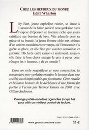 Chez Les Heureux Du Monde - 4ème de couverture - Format classique