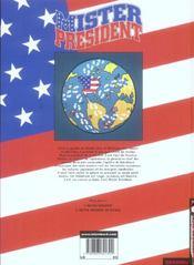 Mister president t.2 ; en voyage - 4ème de couverture - Format classique