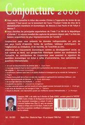 Conjoncture 2000 - 4ème de couverture - Format classique