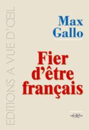 Fier d'être français - Couverture - Format classique
