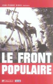 Le Front Populaire - Intérieur - Format classique