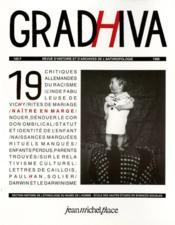 Cahier De Gradhiva N.19 ; Naître En Marges - Couverture - Format classique