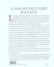 L' Architecture Navale - 4ème de couverture - Format classique