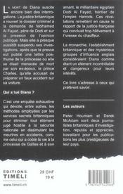 Qui A Tue Diana? - 4ème de couverture - Format classique