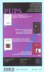 Dix-Huitieme Siecle N.36 - 4ème de couverture - Format classique