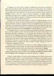 Le messie militant ou la fuite du ghetto ; Jacob Frank ; l'ordre des frères de St Jean - 4ème de couverture - Format classique