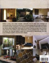 Maisons en terre - 4ème de couverture - Format classique