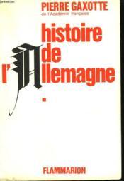 Histoire De L'Allemagne. Tome 1. - Couverture - Format classique