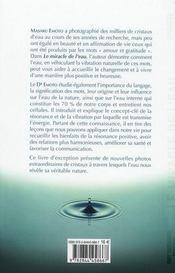 Le miracle de l'eau - 4ème de couverture - Format classique