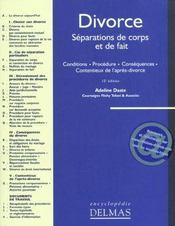 Divorce. Séparations De Corps Et De Fait - Intérieur - Format classique