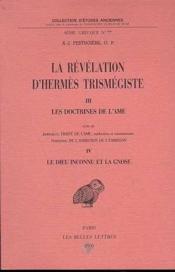 Revelation D'Hermes T3-4 Doctrines De L Ame - Couverture - Format classique