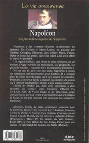 Napoléon ; les plus belles conquêtes de l'Empereur - 4ème de couverture - Format classique