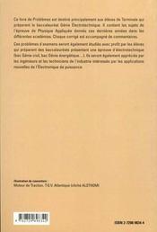 Problemes D'Electrotechnique Et D'Electronique De Puissance Bac Sti Genie Electrotechnique Sujet Cor - 4ème de couverture - Format classique