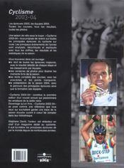 Annee cyclisme 2003-04 (édition 2003) - 4ème de couverture - Format classique