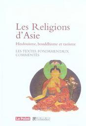Religions D'Asie-Hindouisme, Bouddhisme, Taoisme (Les) - Intérieur - Format classique