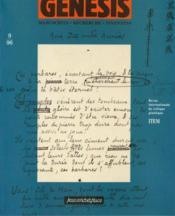 Genesis N.9 ; Manuscrits, Recherche, Invention - Couverture - Format classique
