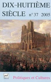 REVUE XVIIIE SIECLE ; politiques et cultures - Intérieur - Format classique