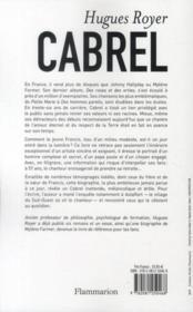Cabrel - 4ème de couverture - Format classique