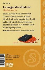 Le magot des dindons - 4ème de couverture - Format classique