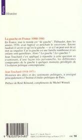 La gauche en france depuis 1900 - 4ème de couverture - Format classique