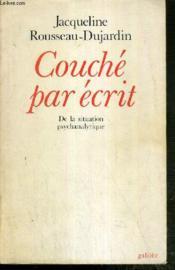 Couche Par Ecrit De La Situation Psychanalytique - Couverture - Format classique