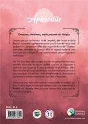 Aphrodite, déesse de l'amour - 4ème de couverture - Format classique