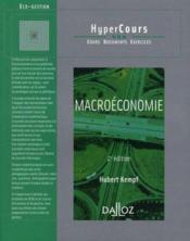 Macroéconomie (2e édition) - Couverture - Format classique