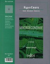 Macroéconomie (2e édition) - 4ème de couverture - Format classique