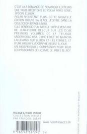 Revue Polar ; Spécial James Ellroy - 4ème de couverture - Format classique