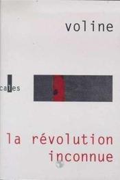 La Revolution Inconnue - Couverture - Format classique