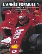 Annee Formule 1 2003-2004 (édition 2003/2004) - Intérieur - Format classique