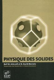 Physique des solides - Couverture - Format classique